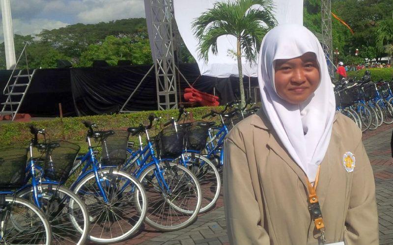 Mahasiswa Termuda UGM, Nida Aqidatus Solimah. Foto : Okezone