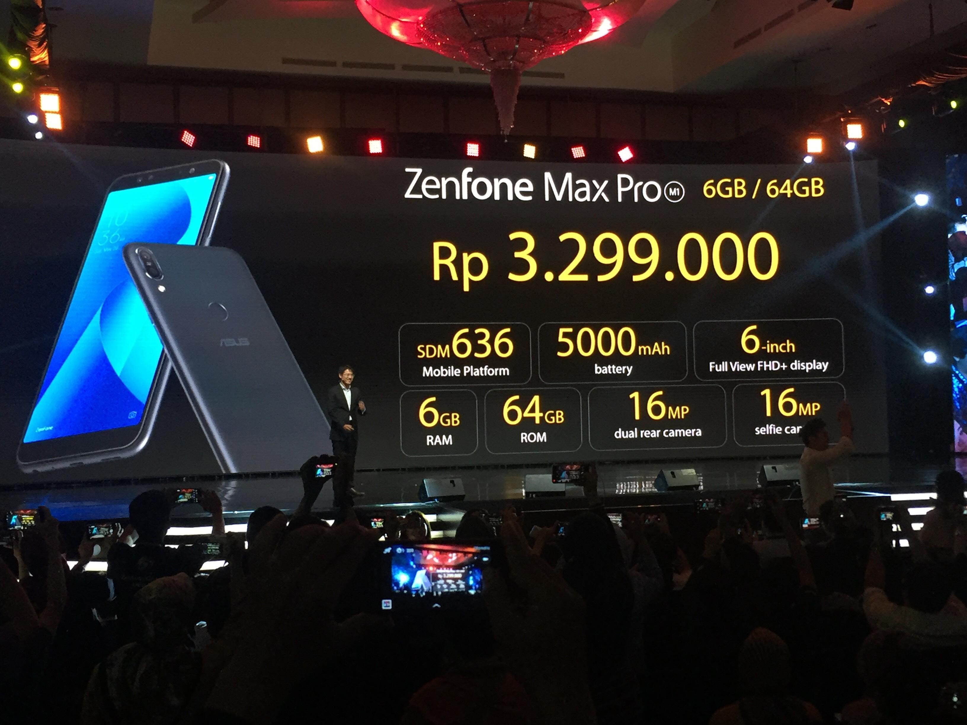 Peluncuran Asus Zenfone Max PRO M1 dalam gelara Asus Limitless Gaming Max Series Launch bertempat di Ritz Calrlton Pacific Palace, Jakarta, Senin (23/4/2018). Foto : Ikhwan