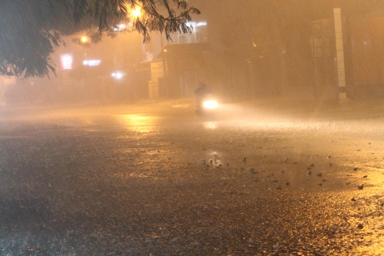 Genangan banjir pada salah satu titik di Kota Padang. Foto : Istimewa