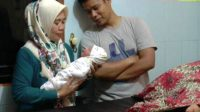 Pasangan Harven dan Mega berbahagia lantaran di HUT ke-72 RI, Kamis, 17 Agustus 2017, tepatnya pukul 19.45, buah hati mereka lahir. Foto(MNC Media.Wahyu Sikumbang)