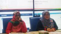 Kabid Pencegahan dan Pengendalian Dinkes Padang Gentina saat kegiatan Diseminasi Informasi bersama Dikominfo Padang di ruang Command Center, Senin 9 September 2019.