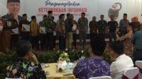 Anugerah Keterbukaan Informasi Publik 2019 bertempat di Balai Raya Gedung Daerah Provinsi Bengkulu, Jumat 20 Desember 2019.